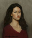 [portrait oil painting from life by Roberto Castellini]