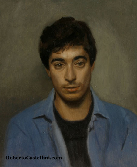 [oil painted portraits by Roberto Castellini]