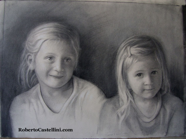 [charcoal portraits by Roberto Castellini]
